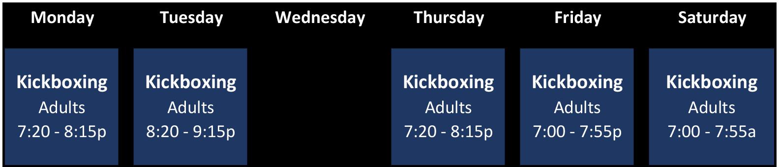 Schedule Effective 04-13-2019 - kickboxing